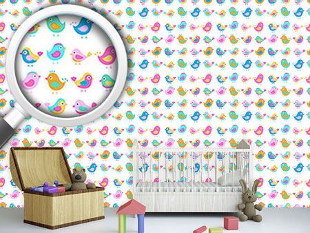 Design Wallpaper Birds In The Toddler Group