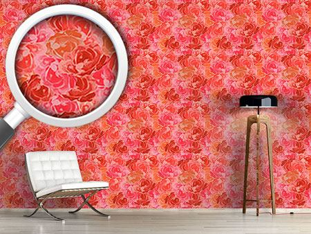 Design Wallpaper Covered With Roses