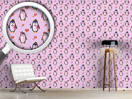 Design Wallpaper Penguins in Love