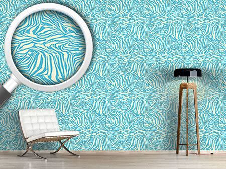 Design Wallpaper Zebra Aqua