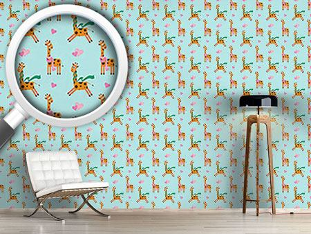 Design Wallpaper Cute Giraffe