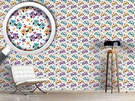 Design Wallpaper Owls In Love