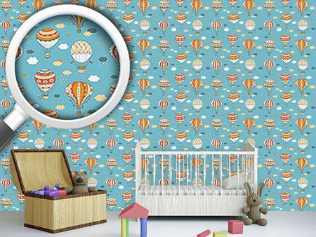 Design Wallpaper Retro Balloon Ride