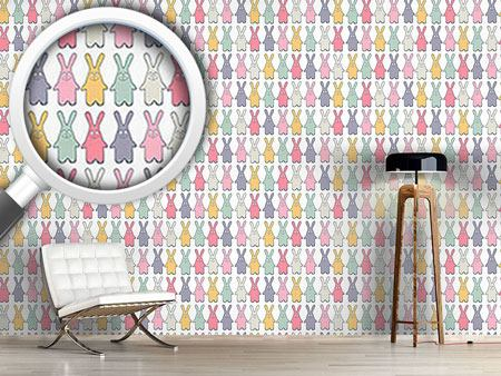 Design Wallpaper Funny Lucky Bunny