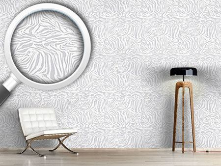 Design Wallpaper Zebra Monochrome