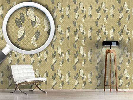 Papier peint design Gentle Feathers Beige