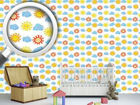Papel tapiz de diseño Suns And Clouds