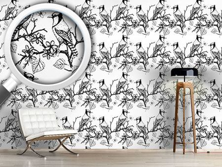 Design Wallpaper Birds On Branches