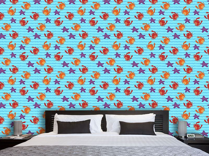 Design Wallpaper Swimming With Crabs