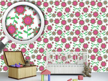 Design Wallpaper Small Flower Quilt