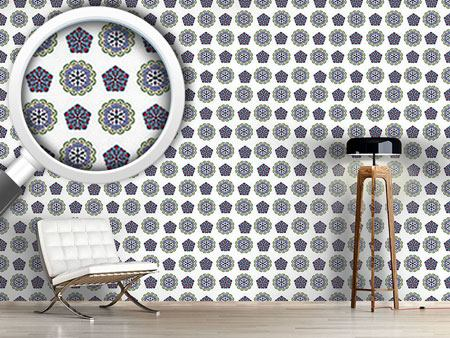 Design Wallpaper Crystal And Floral