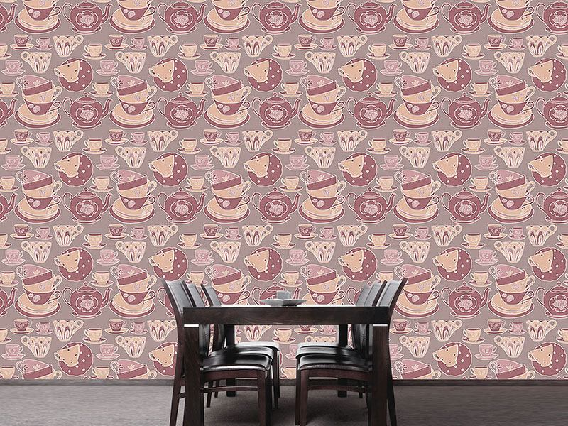 Design Wallpaper Teacup Romance