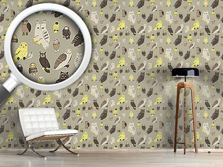 Design Wallpaper Wise Owls