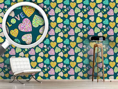 Design Wallpaper Heart And Love