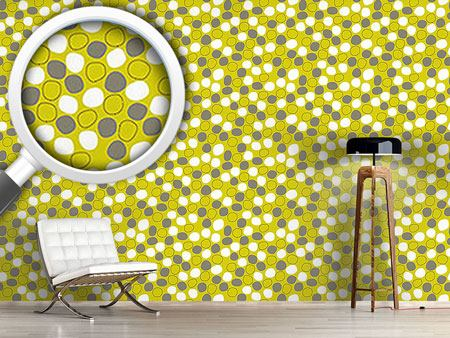 Papier peint design Floating And Dancing Dots
