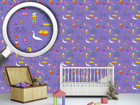 Papel tapiz de diseño Hustle and Bustle of Children