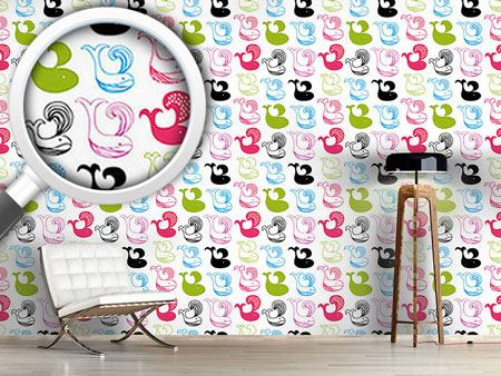 Design Wallpaper Whale Kids