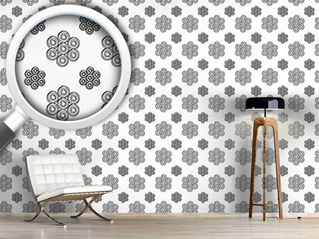 Design Wallpaper Twisted Flowers