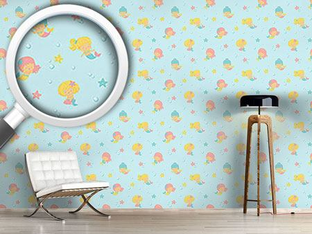 Design Wallpaper Playful Mermaids