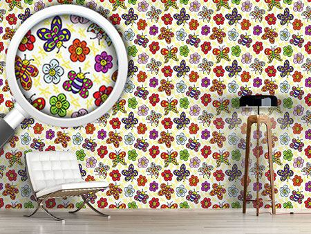 Design Wallpaper Flower Friends
