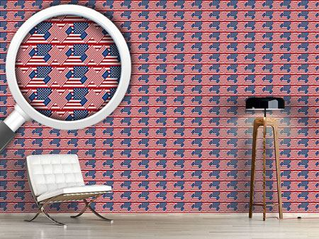 Papier peint design Patriotic USA