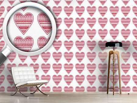 Design Wallpaper Heart For Knitting