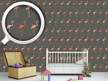 Designtapete Pretty Flamingo