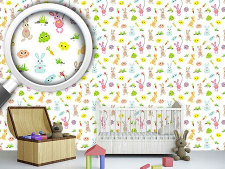 Design Wallpaper Bunny Friends