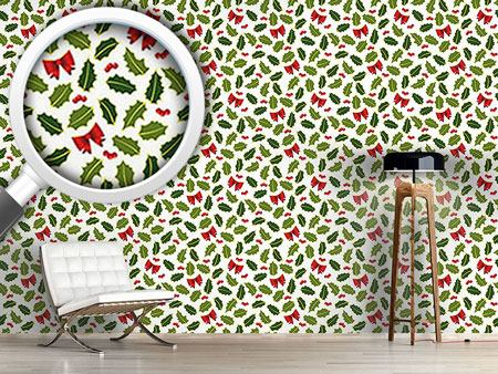 Design Wallpaper Holly Christmas