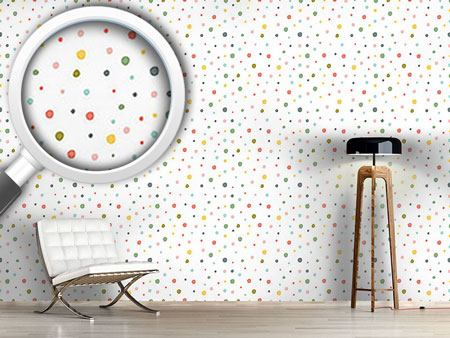 Design Wallpaper Painted Polka Dot