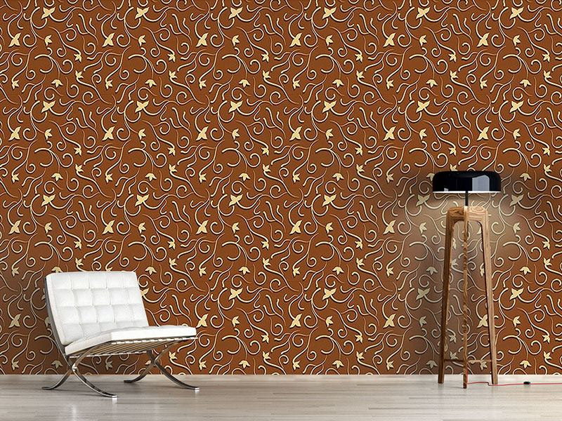 Design Wallpaper Chocolate Ivy