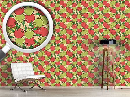 Papel tapiz de diseño Mixed Apples