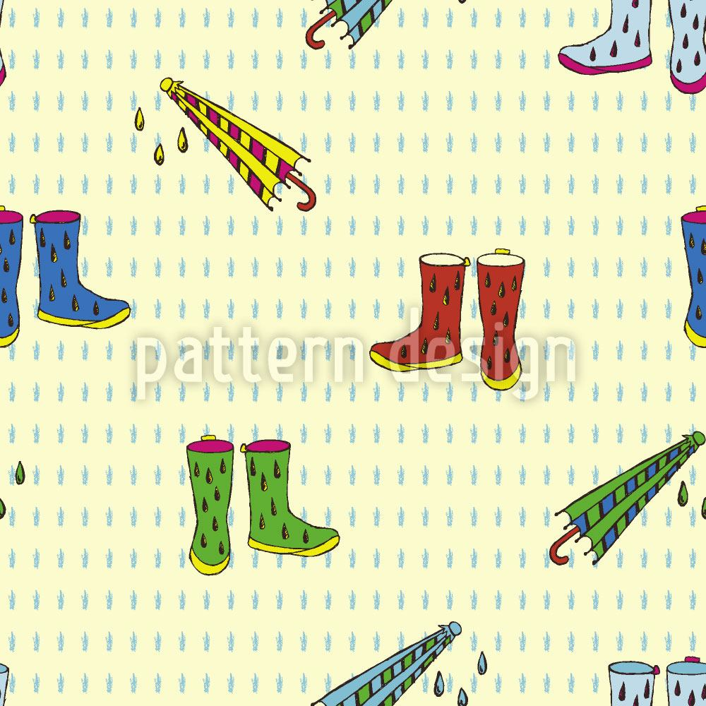 Papier peint design Raining Shoes