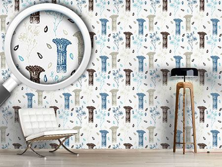 Design Wallpaper Vintage Flax