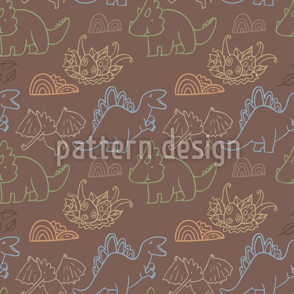 Papier peint design Dino Friends