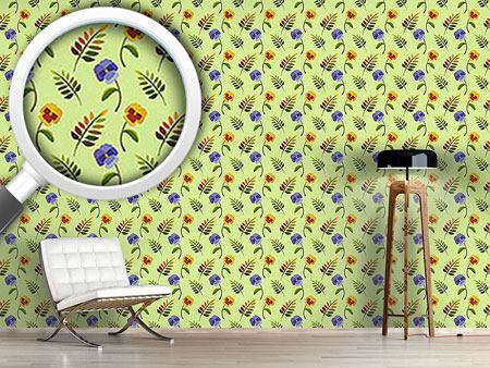 Design Wallpaper Heartsease In Spring