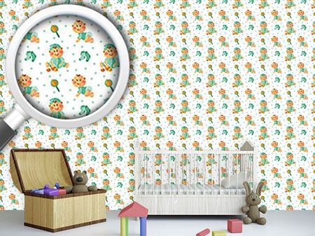 Design Wallpaper Baby Boy And Toy