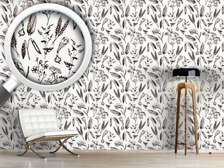 Design Wallpaper Vintage Plants