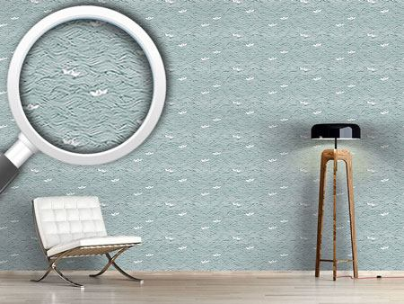 Design Wallpaper Little Paper Boats