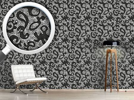 Design Wallpaper Moving Forms and Dots