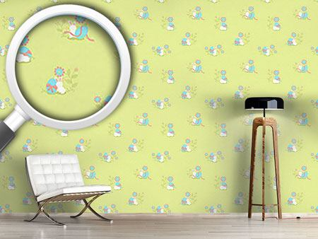 Design Wallpaper Busy Easter Bunny