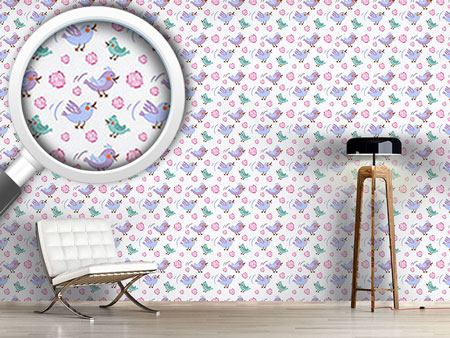 Design Wallpaper Chittering Birds
