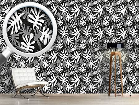 Design Wallpaper Leaves crisscross