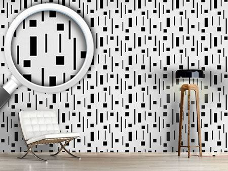 Design Wallpaper Retro In Black And Grey