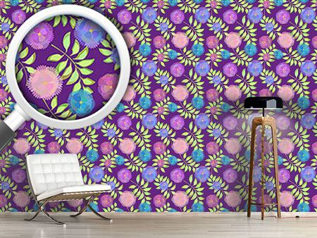 Design Wallpaper Floristic Decoration