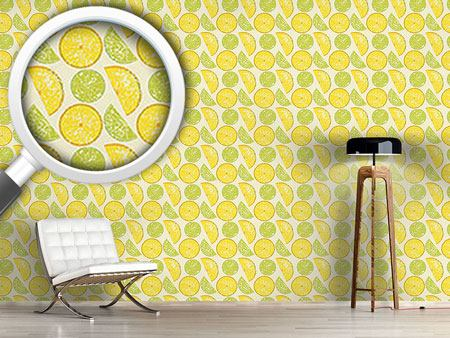 Papier peint design Lemon Or Lime