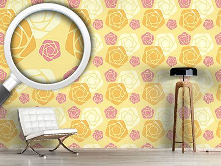 Design Wallpaper Geometric Roses