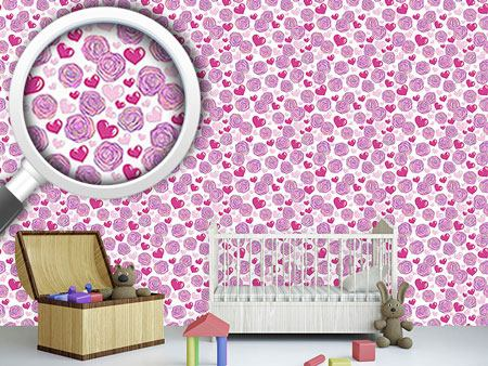 Papier peint design Rose Passion