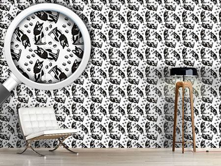 Design Wallpaper Cats On Their Watch