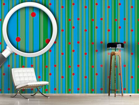 Design Wallpaper Dots On Stripes